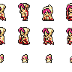 Set of Lenna's White Mage sprites.