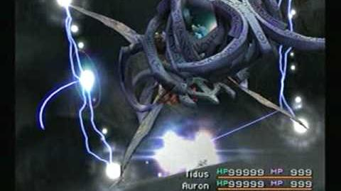 Final Fantasy X Seymour Flux uses Cross Cleave and Total Annihilation