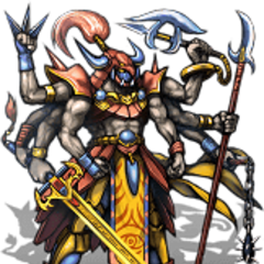 Gilgamesh's last form battle sprite (iOS).