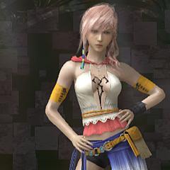 A <i>dressphere</i> Gunner de Yuna em <i>Lightning Returns: Final Fantasy XIII</i>.