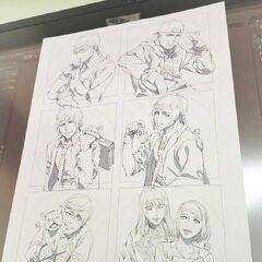 Porta-copos para o <i>Square Enix Cafe</i>.