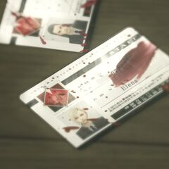 Tseng and Elena's stolen ID cards in <i>Final Fantasy VII: Advent Children Complete</i>.