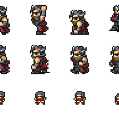 Set of Auron's sprites.
