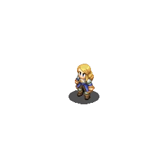 Agrias's Holy Knight sprite in <i>Final Fantasy Tactics S</i>.