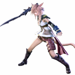 Render of Lightning costume with Blazefire Saber.