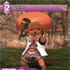 Trading card of a Tarutaru as a Geomancer.