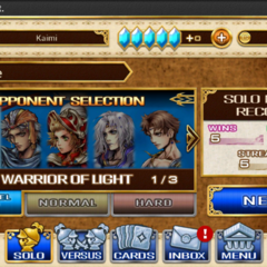 Triple Triad's main menu.