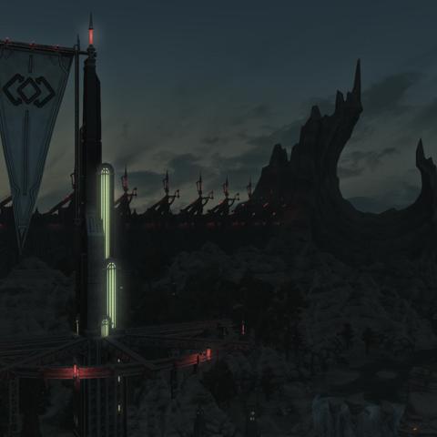Baelsar's Wall in a cutscene.