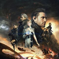Рекламный постер <i>Kingsglaive: Final Fantasy XV</i>, представленный на E3 2016.