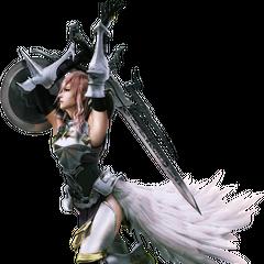 Альтернативное цифровое изображение Лайтнинг в <i>Final Fantasy XIII-2</i>.