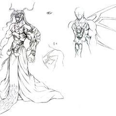 Sorceress Adel artwork by Tetsuya Nomura.