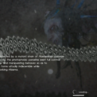 Loading screen in <i>Final Fantasy XV: Comrades Test</i>.
