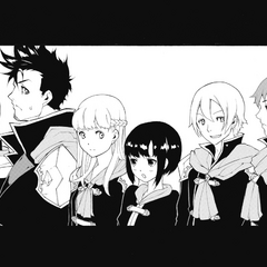 Kurasame with his classmates.