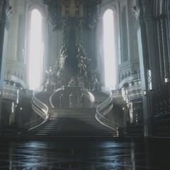 Тронный зал во вступительном ролике <i>Final Fantasy XV</i>.