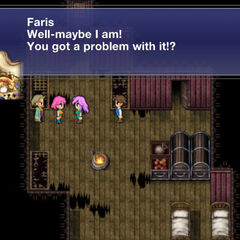 Faris admits she is female.