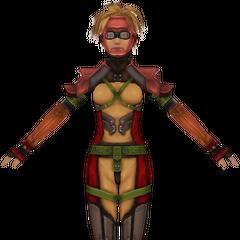 Render de Rikku em uma roupa de mergulho.