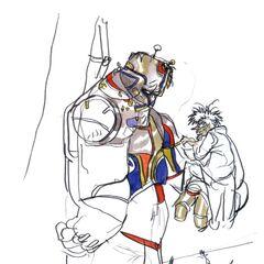 Arte de Dr. Lugae com Barnabas.