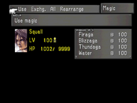FFVIII Magic Menu 1