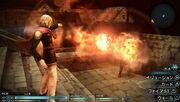 Final-fantasy-type-0 using fire