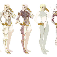 Concept artwork depicting early versions of Qun'mi.