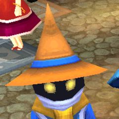 Render of a black mage (DS/iOS).
