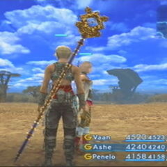 Vaan wielding the Holy Rod in <i><a href=