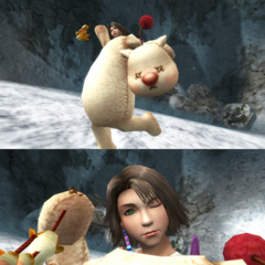 Yuna in her Moogle costume in <i><a href=