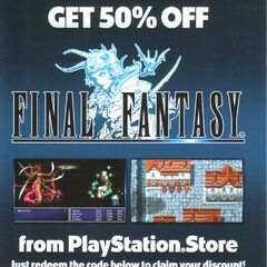 The 50% Off voucher given with <i>Dissidia 012 Final Fantasy</i> Legacy Edition.