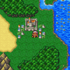Baron on the World Map (GBA).