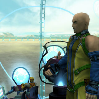 Cid onboard <i>Fahrenheit</i> in <i>Final Fantasy X</i>.