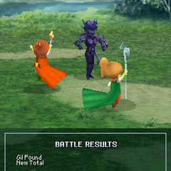 Palom's and Porom's victory poses (DS).