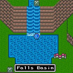 Unfrozen Falls Basin.