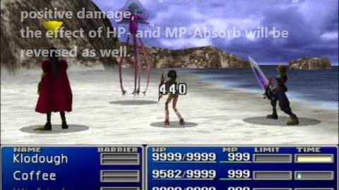 Final Fantasy VII Healing Overflow and HP- and MP-Absorb Overflow - Damage Overflow Advanced Edition