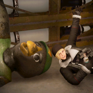 Prompto and Kenny Crow in <i>Episode Prompto</i>.