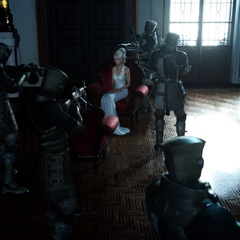 Imperial soldiers surround Lunafreya.