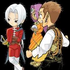 Balthier, Angelo e <i>Dragon Quest VIII</i> e Meena de <i>Dragon Quest IV</i>.