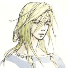 Artwork of a helmet-less Kain from <i>Official Complete Guide</i> (DS).