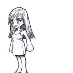 Concept art of flashback Tifa by Tetsuya Nomura.