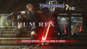 Verum Rex fictional game advert from Kingdom Hearts III