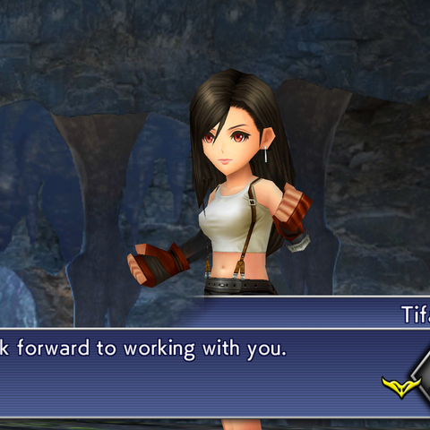 Tifa joins the party.