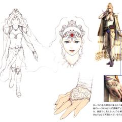 Akira Oguro concept art of Rosa (DS).