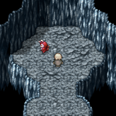 Main entrance room of the second Challenge Dungeon (PSP).