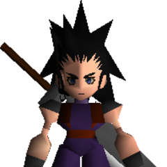Зак с Бастер мечом в <i>Final Fantasy VII</i>.