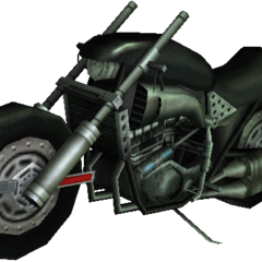 Render of the Hardy-Daytona in <i>Crisis Core</i>.