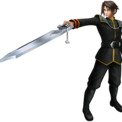 Squall's first alt outfit, based on his SeeD uniform.