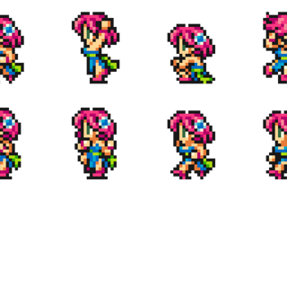 Set of Lenna's Dancer sprites from <i>Final Fantasy Record Keeper</i>.