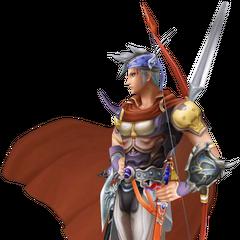 Primeira roupa alternativa de Firion em <i>Dissidia Final Fantasy</i>, baseado na arte de Amano.