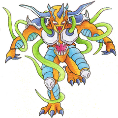 Concept art of Julius's second form.
