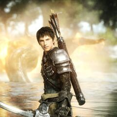 The Warrior of Light as an Archer in the <i>Legacy</i> opening FMV.