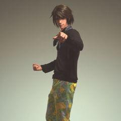 Noel com outra roupa do <i>Prada 2012 Men's Spring/Summer Collection</i>.